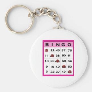 bingo card key ring