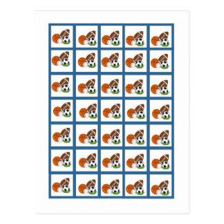 Bingo Card Markers All-star Blue Postcard