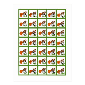 Bingo Card Markers All-star Green Postcard