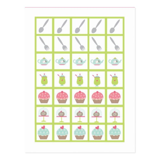 Bingo Card Markers Tea Party Pink Pastel Flowers