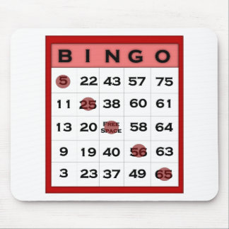 bingo card mouse mat