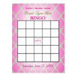 Bingo Card | Pink Quatrefoil Postcard