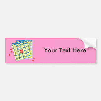 Bingo Card - Play To Win - Good Luck Charms Bumper Sticker