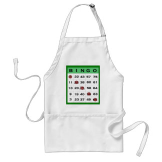 bingo card standard apron