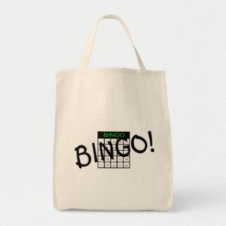 Bingo Card Grocery Tote Bag