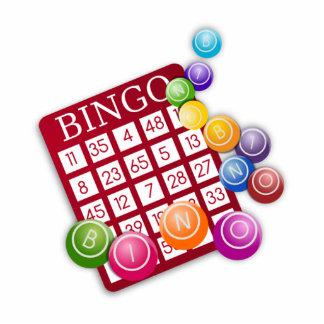 BINGO Card with BINGO Balls Standing Photo Sculpture