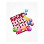 BINGO Card with Bingo Dowels 21.5 Cm X 28 Cm Flyer