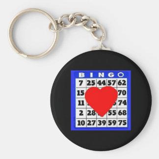 Bingo-Card with Heart Keychain