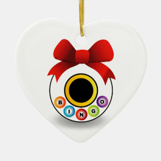 Bingo Ceramic Heart Decoration