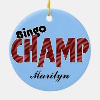 Bingo Champ Champion Vegas Style Ornament