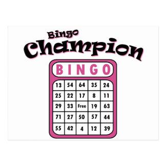 Bingo Champion Postcard