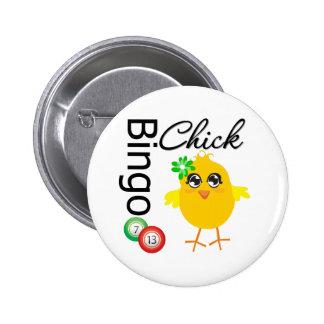 Bingo Chick 6 Cm Round Badge
