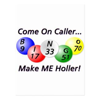 Bingo! Come on Caller, Make ME Holler! Postcard