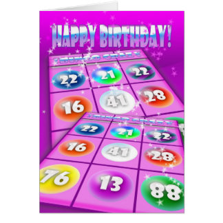 Bingo Crazy Birthday Card