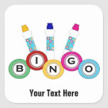 Bingo (customisable) square stickers