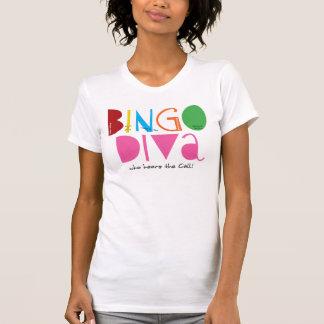 Bingo Diva Ladies Casual Scoop T-Shirt