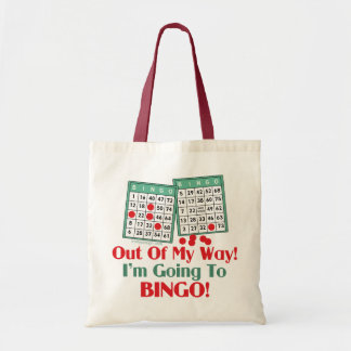Bingo Funny Saying Tote Bag