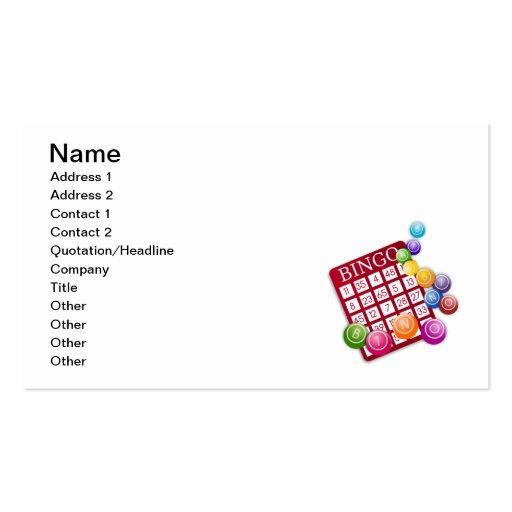Bingo Game Business Card Templates