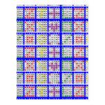 Bingo Game Patterns Large Grid Post Card