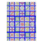 Bingo Game Patterns Large Post Card