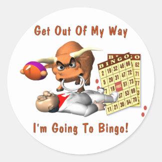 Bingo: Get Out Of My Way Classic Round Sticker