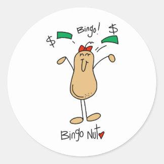 Bingo Gift Classic Round Sticker