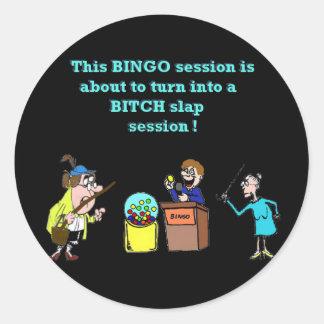 Bingo Gone Bad Classic Round Sticker
