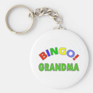 Bingo Grandma Key Ring