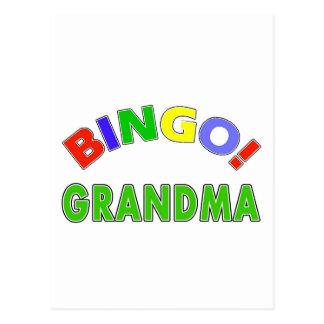Bingo Grandma Postcard