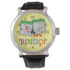 Bingo! Green and White Bingo Cards on Yellow Watch