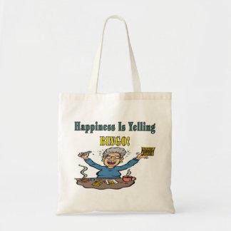 Bingo: Happiness Is Budget Tote Bag