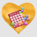 Bingo Heart Stickers