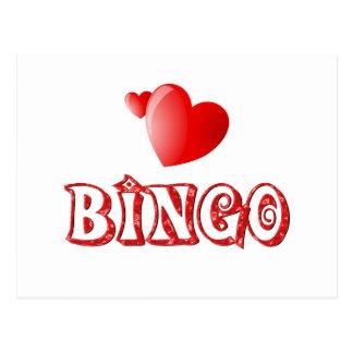 Bingo Hearts Postcard