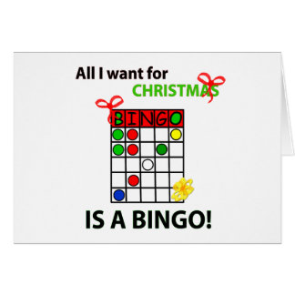 BINGO I want a bingo  for Christmas Card