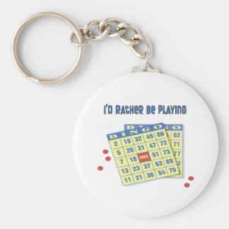 Bingo: I'd Rather Be Playing Key Ring