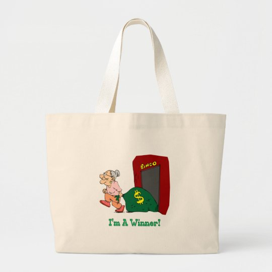 Bingo - I'm A Winner Large Tote Bag