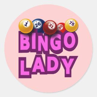 BINGO LADY CLASSIC ROUND STICKER