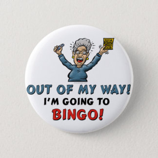 Bingo Lovers 6 Cm Round Badge