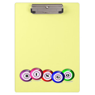 Bingo Lovers Personalized Lucky Bingo Board Clipboards