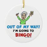 Bingo Lovers Round Ceramic Decoration