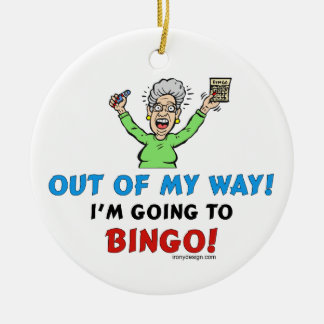 Bingo Lovers Round Ceramic Decoration