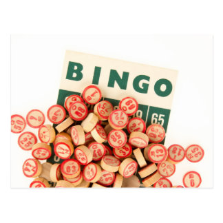 Bingo Markers and Score Card Postcard