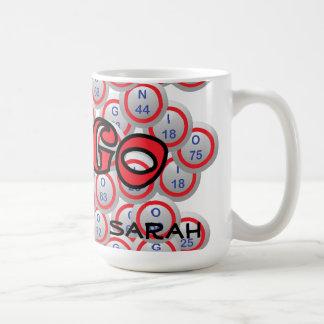 """Bingo """"Name"""" over Bingo Balls Coffee Mug"""