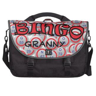 """Bingo """"Name"""" over Bingo Balls Computer Bag"""