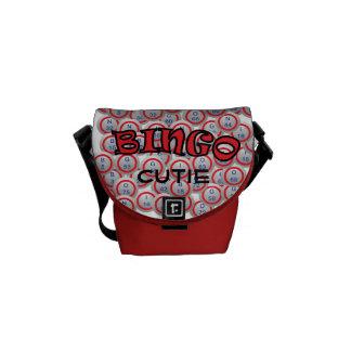 """Bingo """"Name"""" over Bingo Balls Messenger Bags"""