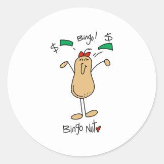 Bingo Nut Classic Round Sticker