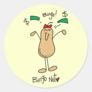 Bingo Nut Tshirts and Gifts Classic Round Sticker