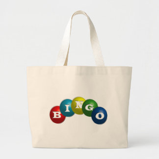 Bingo or Lotto - option to personalize your gear. Large Tote Bag