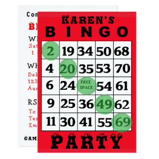BINGO Party Invitation