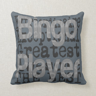 Bingo Player Extraordinaire Throw Pillow